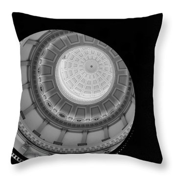 Black Spiral Throw Pillow