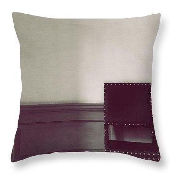 Black Stud Throw Pillow by Margie Hurwich