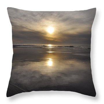 Black Sunset Throw Pillow