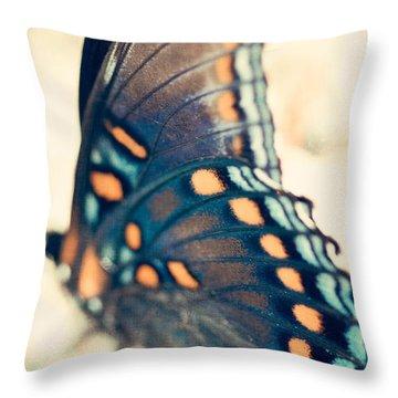 Black Swallowtail Butterfly Throw Pillow by Kim Fearheiley