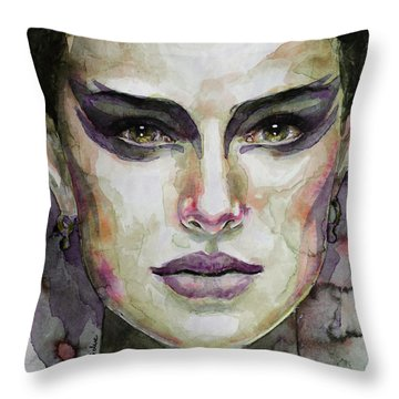 Black Swan Throw Pillow by Laur Iduc