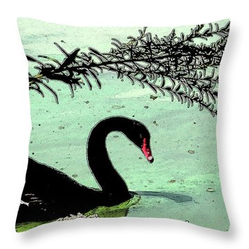 Black Swan2 Throw Pillow