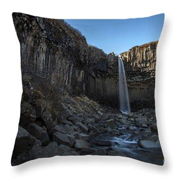 Black Waterfall Throw Pillow