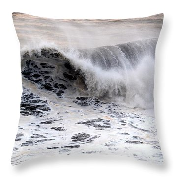 Black Wave Throw Pillow