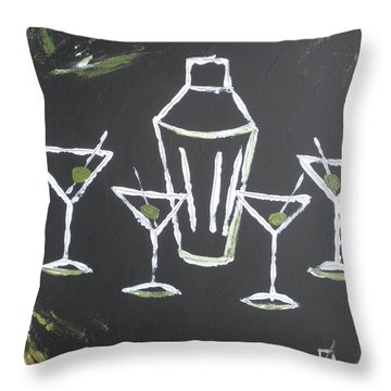 Black White And Olive Throw Pillow