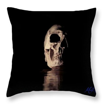 Throw Pillow featuring the photograph Blackbeard's Skull by Mark Blauhoefer