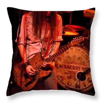 Blackberry Smoke Guitarist Charlie Starr Throw Pillow