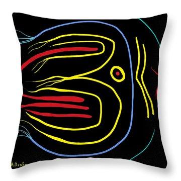 Blackbird Throw Pillow by Alec Drake
