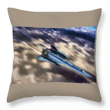 Throw Pillow featuring the painting Blackbird by Dave Luebbert