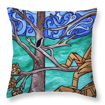 Blackbird Singing Throw Pillow