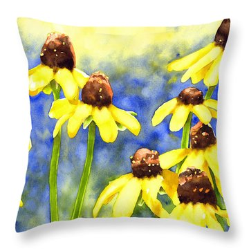Blackeyed Beauties Throw Pillow