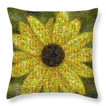 Blackeyed Suzy Mosaic Throw Pillow by Darleen Stry