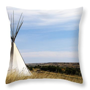 Blackfoot Teepee Throw Pillow by Alyce Taylor