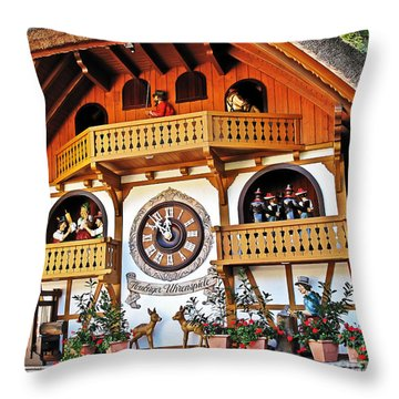 Blackforest Cuckoo Clock Throw Pillow