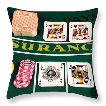 Blackjack Throw Pillow