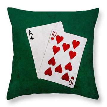 Blackjack Twenty One 1 Throw Pillow