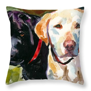 Blacklight Throw Pillow by Molly Poole