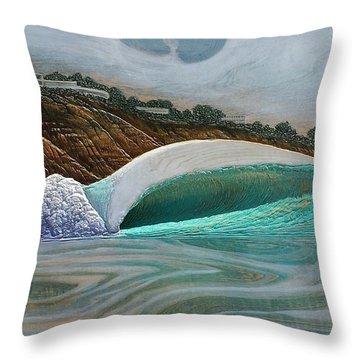 Blacks Beach Throw Pillow by Nathan Ledyard