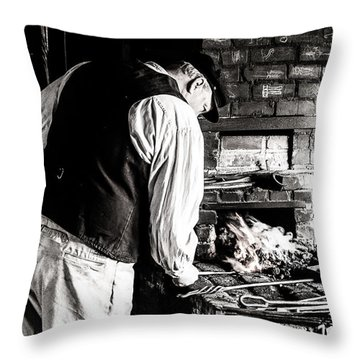 Blacksmith Throw Pillow