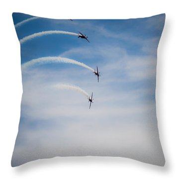 Throw Pillow featuring the photograph Blades Formation Loop by Scott Lyons