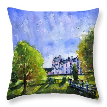 Blair Castle Bridge Scotland Throw Pillow