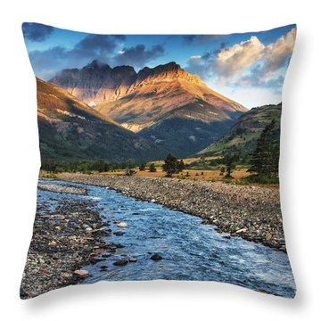 Blakiston Creek Throw Pillow