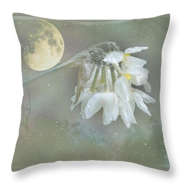 Throw Pillow featuring the photograph Blanche by Elaine Teague