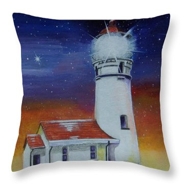 Blanco Lighthouse Throw Pillow