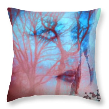 Throw Pillow featuring the digital art Blank Stare by Diana Riukas