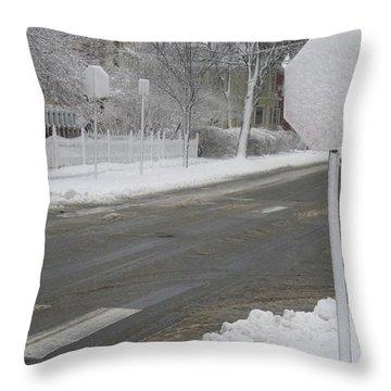 Blank Stop Throw Pillow