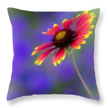 Blanket Flower  Throw Pillow by Saija  Lehtonen