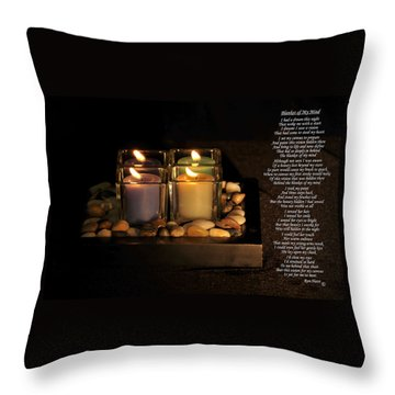 Blanket Of My Mind Throw Pillow by Ron Haist