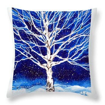 Blanket Of Stillness Throw Pillow by Jackie Carpenter