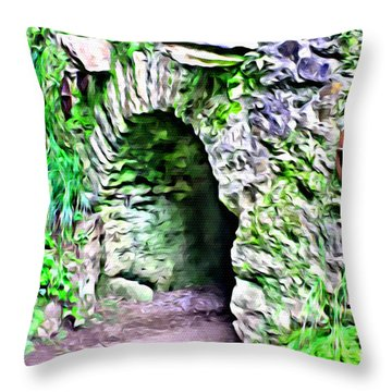 Blarney Cave Throw Pillow