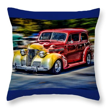 Blast From The Past Throw Pillow by Larry Bishop