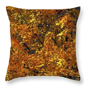 Blast Of Autumn Throw Pillow by Dee Flouton
