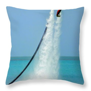 Blast Off Throw Pillow by Karen Wiles