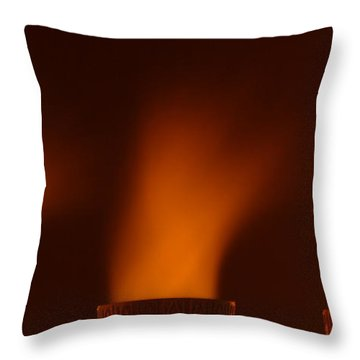 Throw Pillow featuring the photograph Blast Off by Max Allen