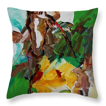 Blaze Of White Horse 23 2014 Throw Pillow