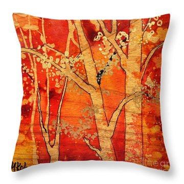 Blazing Autumn Throw Pillow