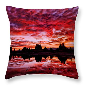 Blazing Dawn Throw Pillow