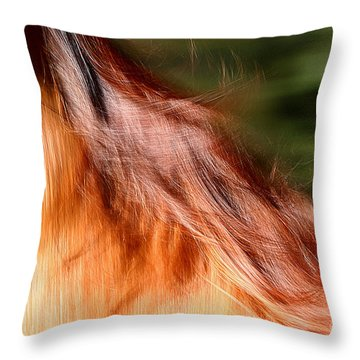Blazing Fast Throw Pillow by Michelle Twohig