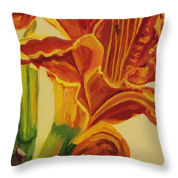 Blazing Glory Throw Pillow