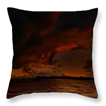 Blazing Glory Throw Pillow by Steven Richardson