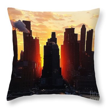 Blazing Morning Sun Throw Pillow