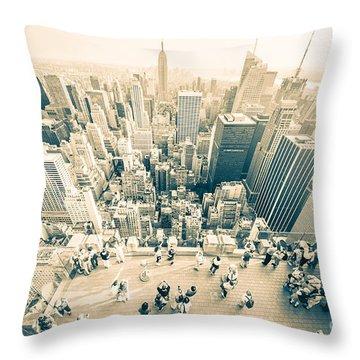 Bleached Manhattan Throw Pillow