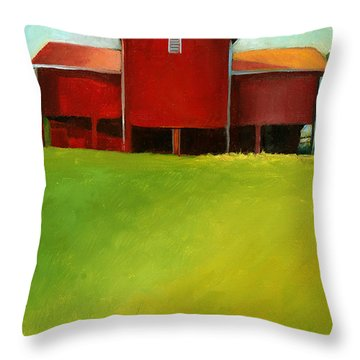 Bleak House Barn 2 Throw Pillow by Catherine Twomey