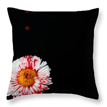 Bleeding Flower Throw Pillow
