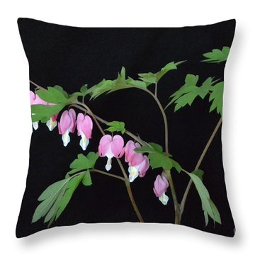 Throw Pillow featuring the photograph Bleeding Hearts 2 by Jeannie Rhode