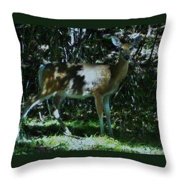 Blending With The Forest Throw Pillow